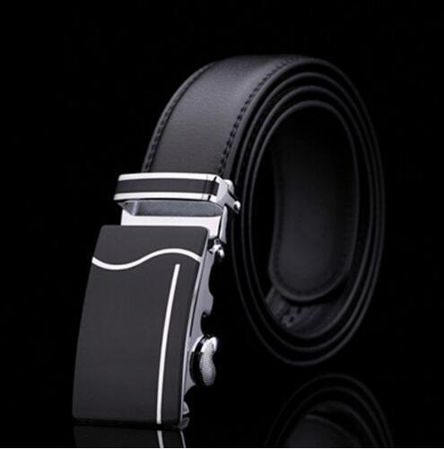 Genuine Luxury Leather Men Belt / Metal Automatic Buckle-X-110cm-JadeMoghul Inc.