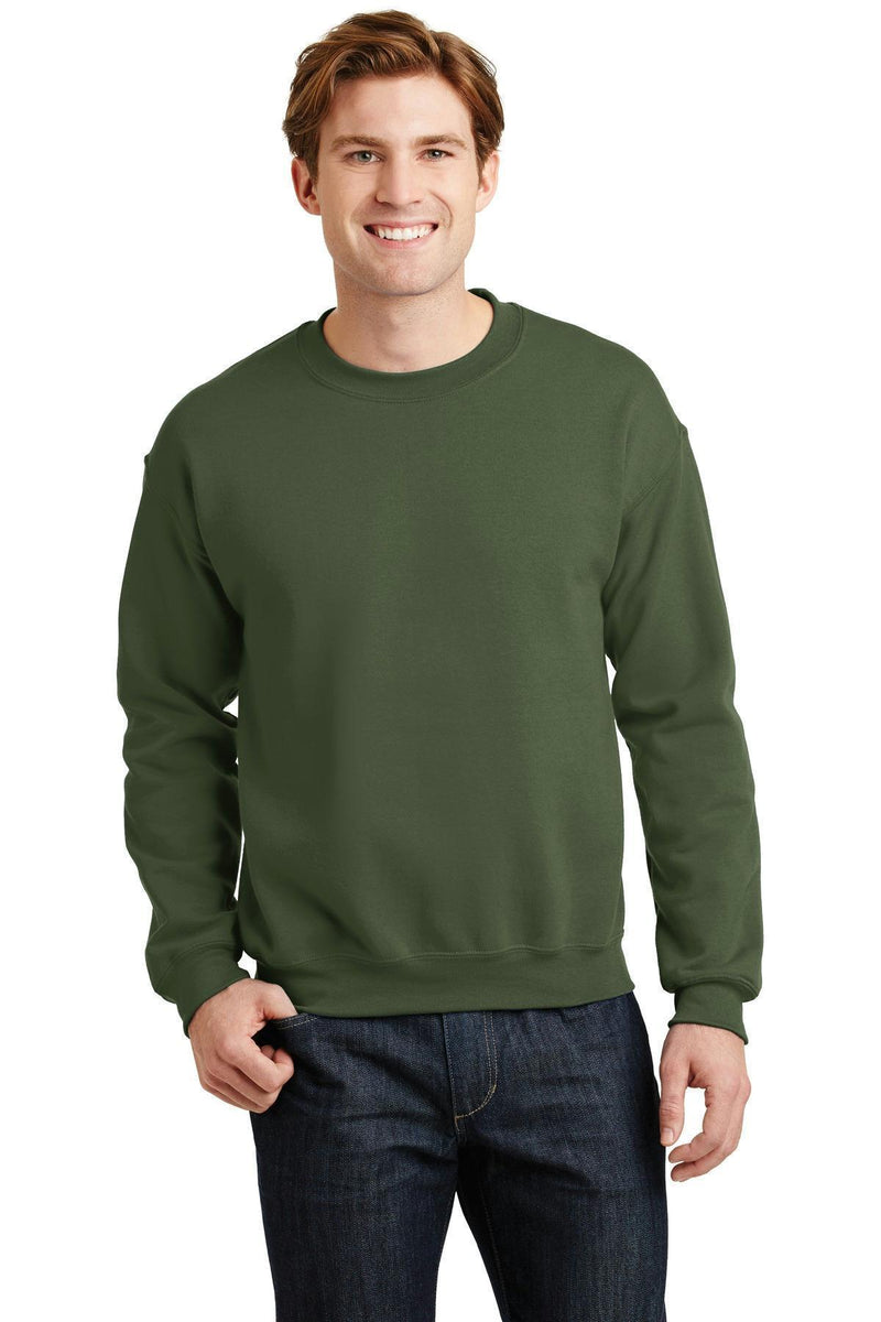 Gildan - Heavy Blend Crewneck Sweatshirt. 18000-Sweatshirts/fleece-Military Green-S-JadeMoghul Inc.