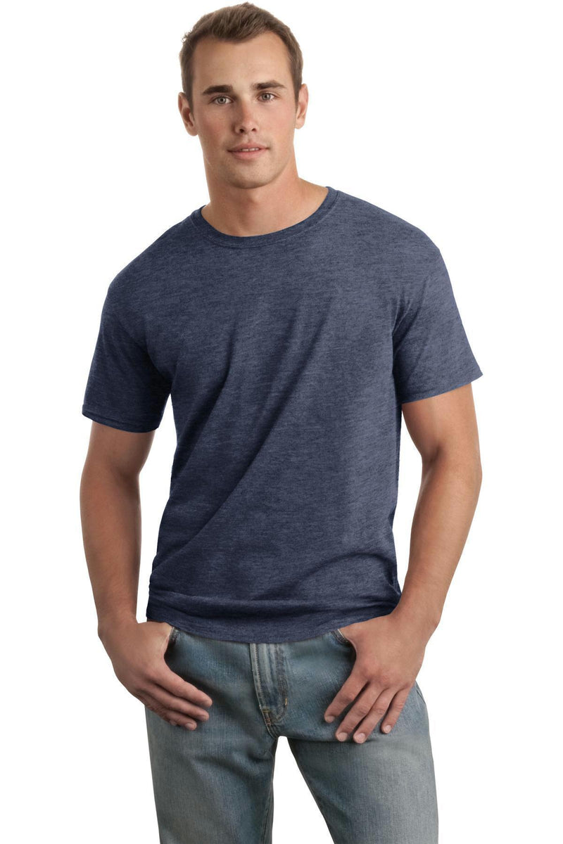 Gildan Softstyle T-Shirt. 64000-Juniors & Young Men-Heather Navy-L-JadeMoghul Inc.