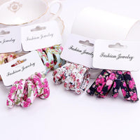 Girls 6 PCS Cotton Print Hair Ties-3-JadeMoghul Inc.