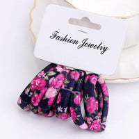 Girls 6 PCS Cotton Print Hair Ties-5-JadeMoghul Inc.