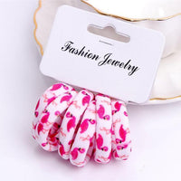 Girls 6 PCS Cotton Print Hair Ties-6-JadeMoghul Inc.