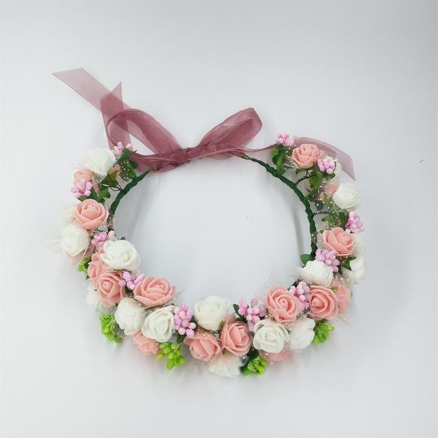 Girls Party Wear Floral Hair Crowns-A 1-JadeMoghul Inc.