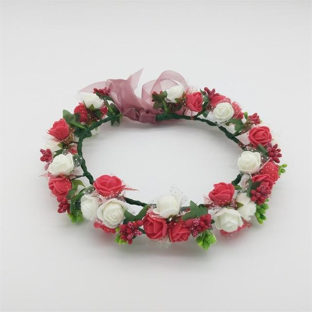 Girls Party Wear Floral Hair Crowns-A 10-JadeMoghul Inc.