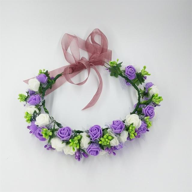Girls Party Wear Floral Hair Crowns-A 2-JadeMoghul Inc.