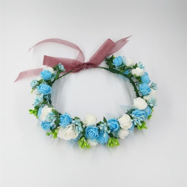 Girls Party Wear Floral Hair Crowns-A 3-JadeMoghul Inc.