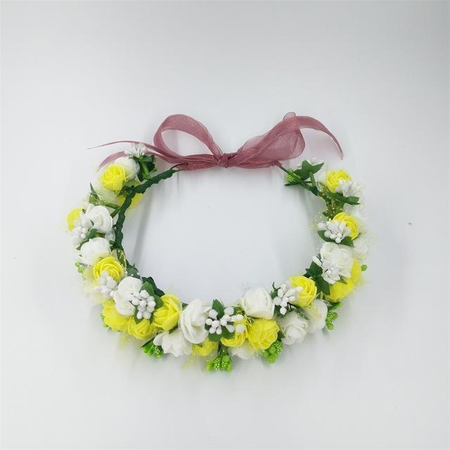 Girls Party Wear Floral Hair Crowns-A 4-JadeMoghul Inc.