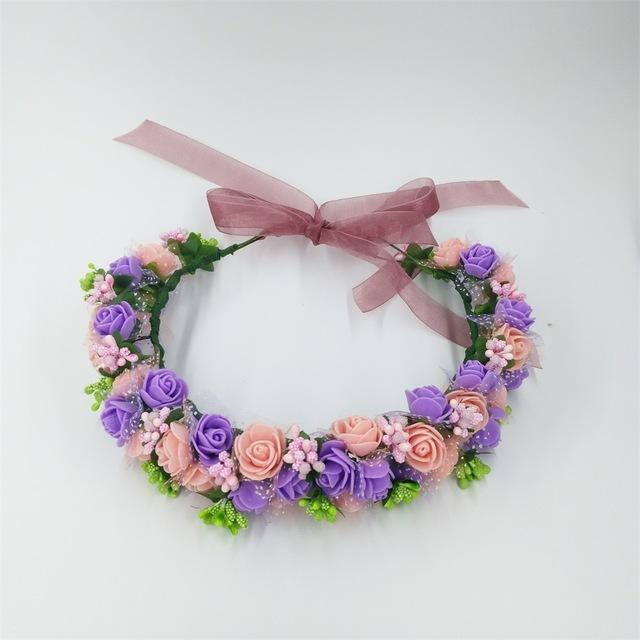 Girls Party Wear Floral Hair Crowns-A 5-JadeMoghul Inc.