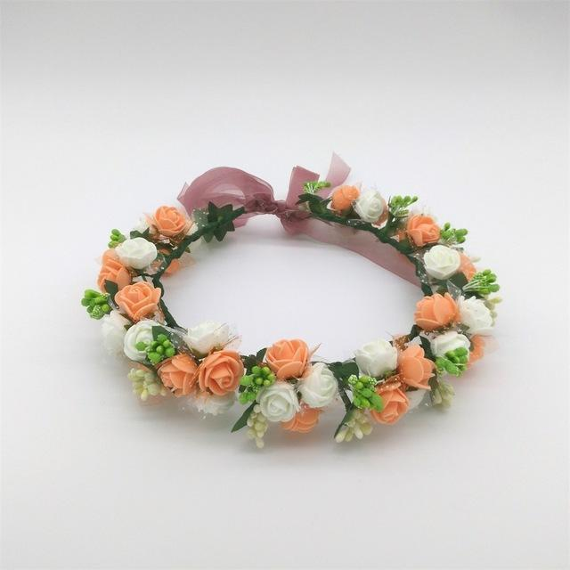 Girls Party Wear Floral Hair Crowns-A 6-JadeMoghul Inc.