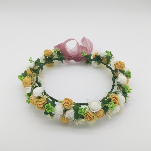 Girls Party Wear Floral Hair Crowns-A 7-JadeMoghul Inc.