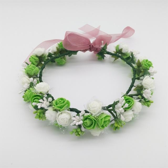 Girls Party Wear Floral Hair Crowns-A 8-JadeMoghul Inc.