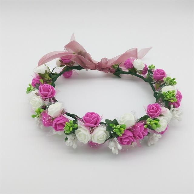 Girls Party Wear Floral Hair Crowns-A 9-JadeMoghul Inc.