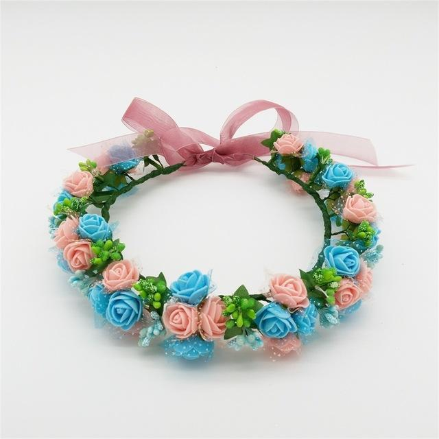 Girls Party Wear Floral Hair Crowns-A11-JadeMoghul Inc.