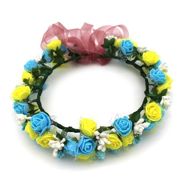 Girls Party Wear Floral Hair Crowns-A12-JadeMoghul Inc.