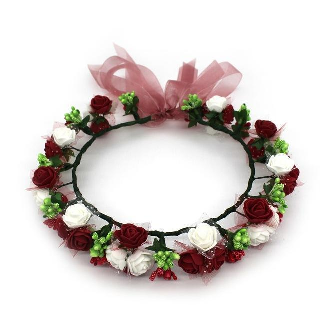 Girls Party Wear Floral Hair Crowns-A13-JadeMoghul Inc.