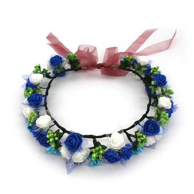 Girls Party Wear Floral Hair Crowns-A14-JadeMoghul Inc.