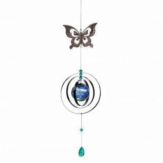 GLOW-IN-THE-DARK BUTTERFLY WIND SPINNER-Seasonal Merchandise/Gifts-JadeMoghul Inc.
