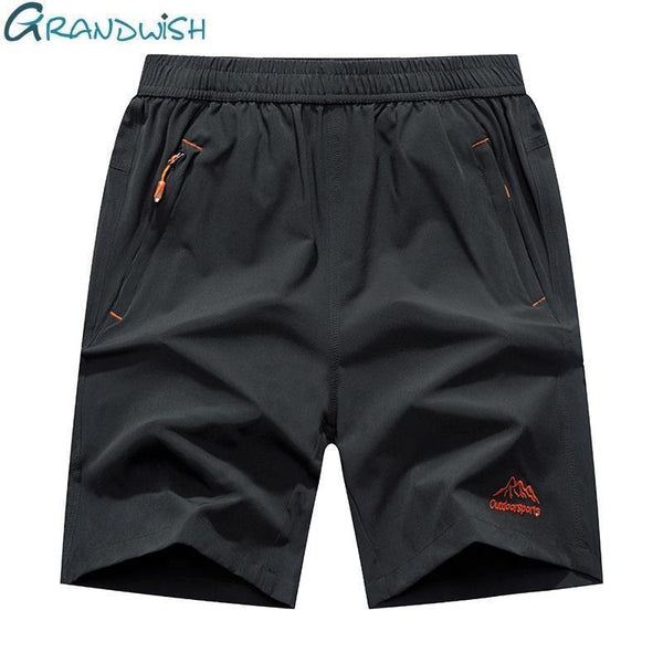 Grandwish Plus Size Shorts Men 9XL with Zipper Pocket Shorts Men Big Size Elastic Waist 7XL 8XL 9XL Plus Size Shorts Mens,DA016-8858 Black-XL-JadeMoghul Inc.