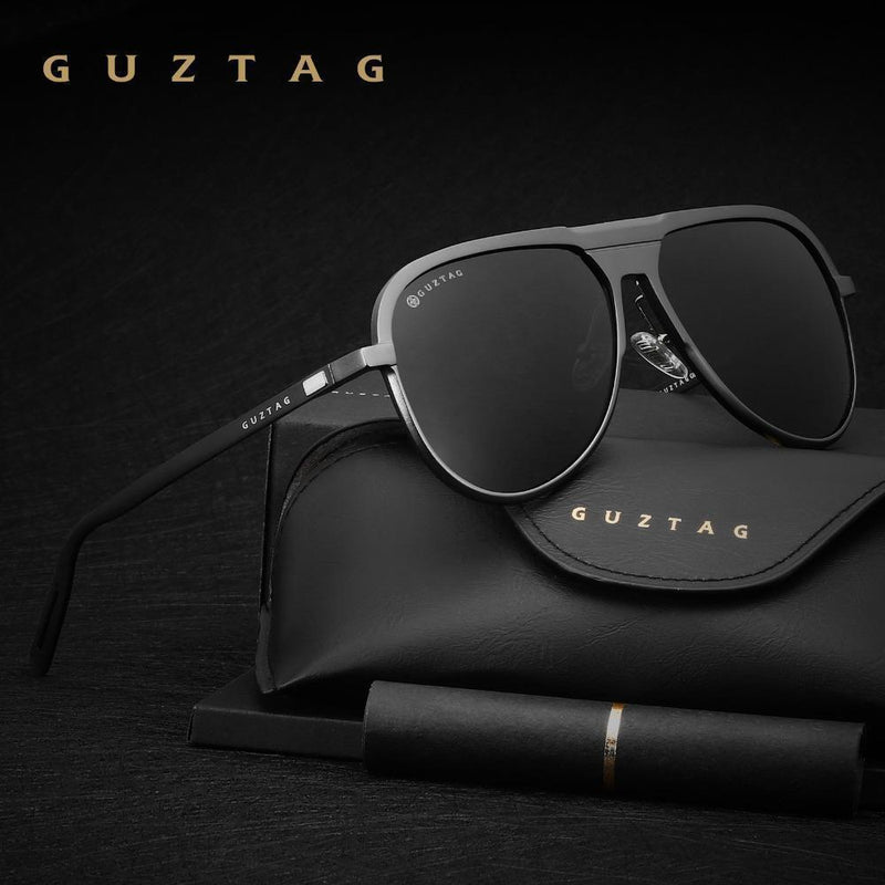 GUZTAG Unisex Classic Brand Men Aluminum Sunglasses HD Polarized UV400 Mirror Male Sun Glasses Women For Men Oculos de sol G9828-Black-JadeMoghul Inc.