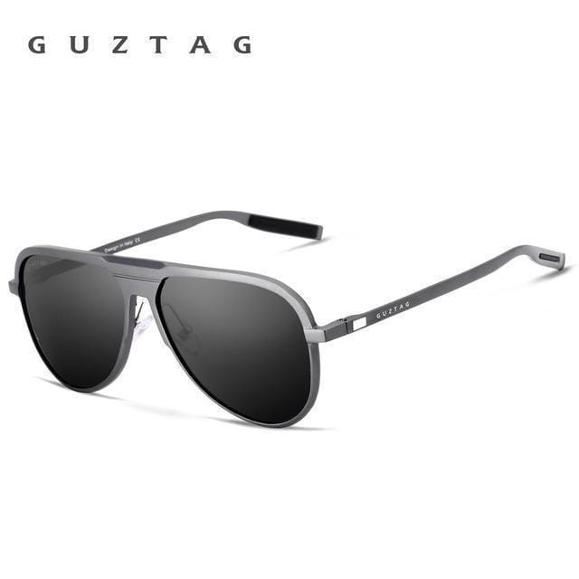 GUZTAG Unisex Classic Brand Men Aluminum Sunglasses HD Polarized UV400 Mirror Male Sun Glasses Women For Men Oculos de sol G9828-Gray-JadeMoghul Inc.