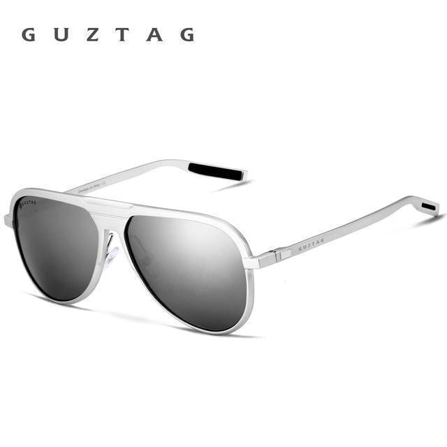 GUZTAG Unisex Classic Brand Men Aluminum Sunglasses HD Polarized UV400 Mirror Male Sun Glasses Women For Men Oculos de sol G9828-Silver-JadeMoghul Inc.