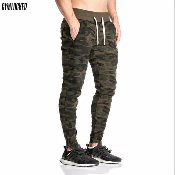 GYMLOCKER 2017 Men camouflage Gyms Pants Casual Elastic Mens Fitness Workout Pants skinny Sweatpants Trousers Jogger Pants-red-XL-JadeMoghul Inc.