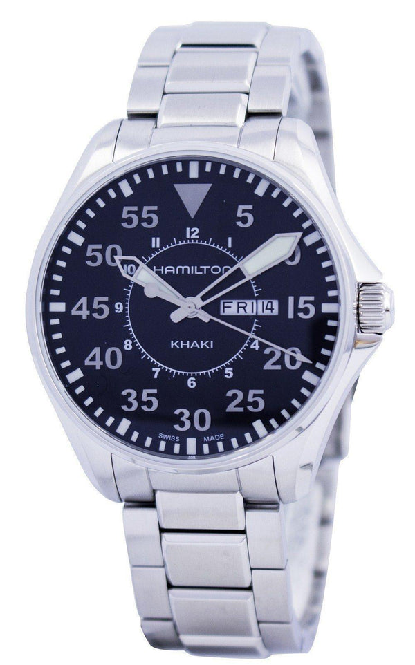Hamilton Khaki Pilot Quartz H64611135 Men's Watch-Branded Watches-JadeMoghul Inc.