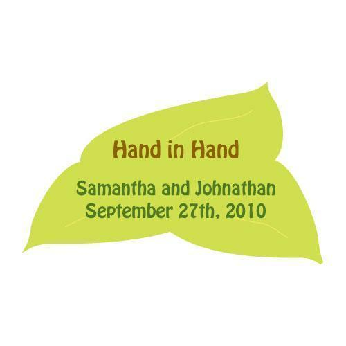 Hand in Hand Sticker (Pack of 1)-Wedding Favor Stationery-JadeMoghul Inc.