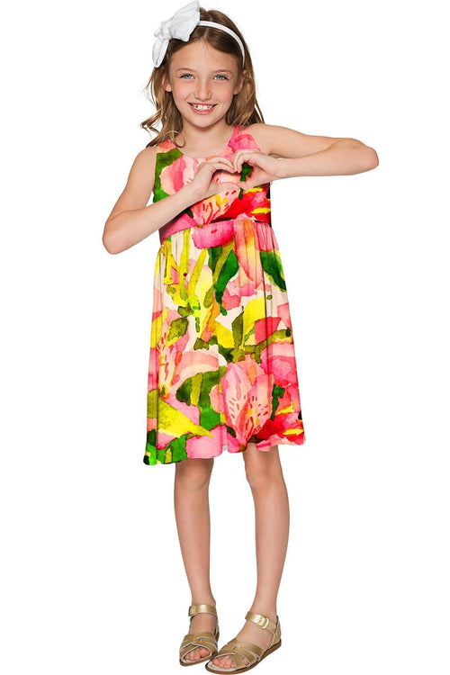 Havana Flash Sanibel Colorful Summer Empire Dress - Girls-Havana Flash-JadeMoghul Inc.