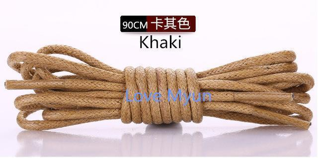 High Quality Shoelaces Waterproof Leather Shoes Laces Round Shape Fine Rope White Black Red Blue Purple Brown Shoelaces-as picture 6-JadeMoghul Inc.