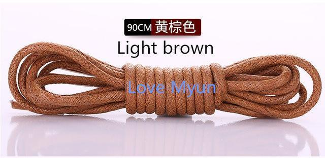 High Quality Shoelaces Waterproof Leather Shoes Laces Round Shape Fine Rope White Black Red Blue Purple Brown Shoelaces-as picture 7-JadeMoghul Inc.