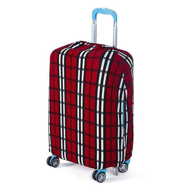 Fashion Travel Nautical Anchor Ship Shaft Red Luggage Suitcase Protector Washable Baggage Covers
