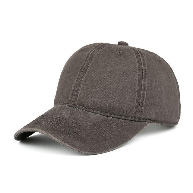 High quality Washed Cotton Adjustable Solid Baseball Cap / Unisex Cap-Coffee-JadeMoghul Inc.