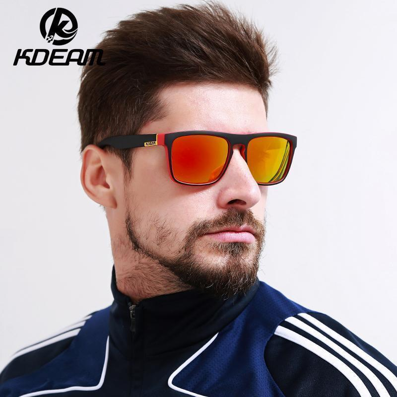 Highly Recommended KDEAM Mirror Polarized Sunglasses Men Square Sport Sun Glasses Women UV gafas de sol With Peanut Case KD156-NO1-Polarized with case-JadeMoghul Inc.
