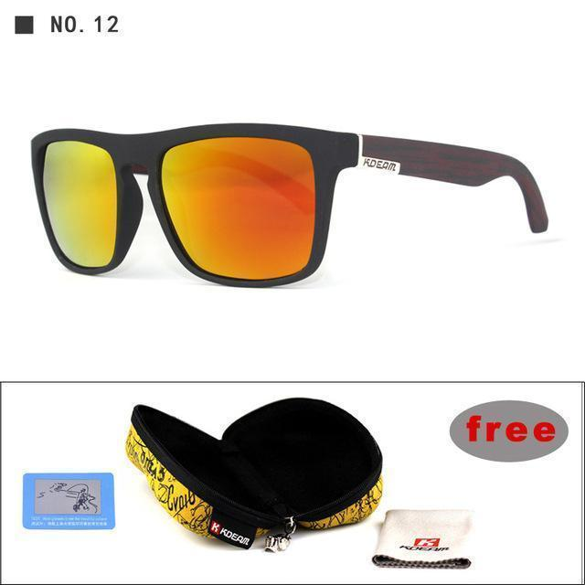 Highly Recommended KDEAM Mirror Polarized Sunglasses Men Square Sport Sun Glasses Women UV gafas de sol With Peanut Case KD156-NO12-Polarized with case-JadeMoghul Inc.