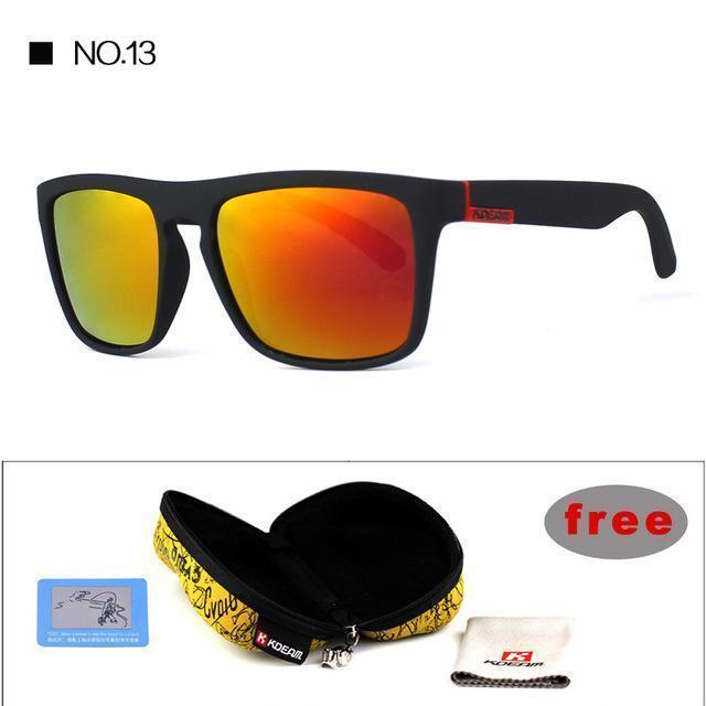 Highly Recommended KDEAM Mirror Polarized Sunglasses Men Square Sport Sun Glasses Women UV gafas de sol With Peanut Case KD156-NO13-Polarized with case-JadeMoghul Inc.