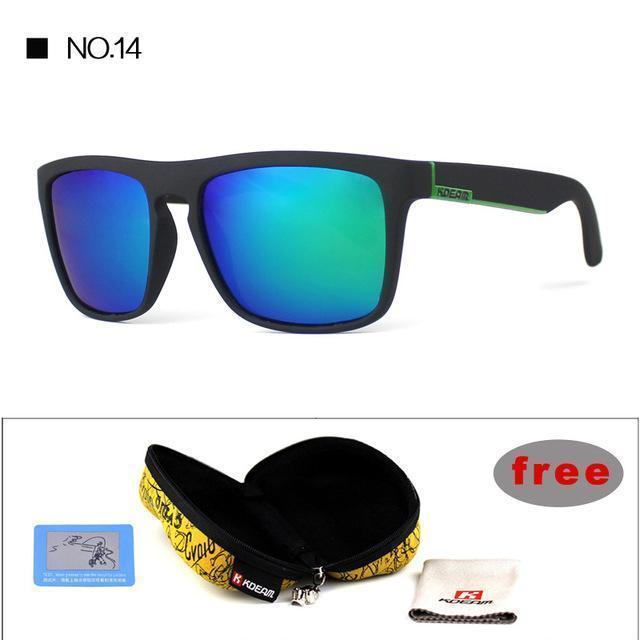 Highly Recommended KDEAM Mirror Polarized Sunglasses Men Square Sport Sun Glasses Women UV gafas de sol With Peanut Case KD156-NO14-Polarized with case-JadeMoghul Inc.