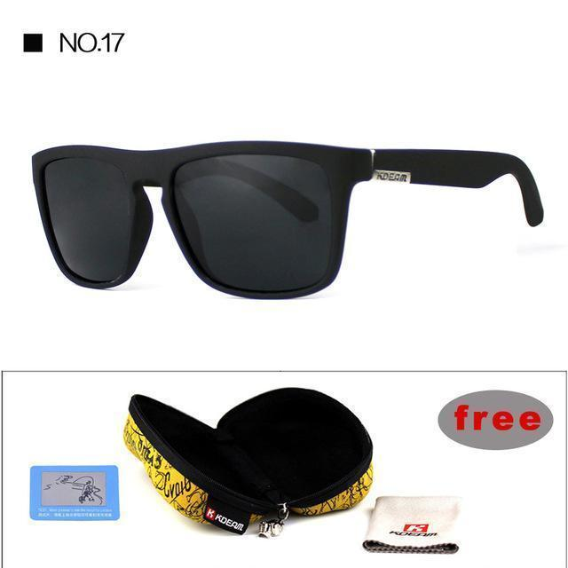 Highly Recommended KDEAM Mirror Polarized Sunglasses Men Square Sport Sun Glasses Women UV gafas de sol With Peanut Case KD156-NO17-Polarized with case-JadeMoghul Inc.