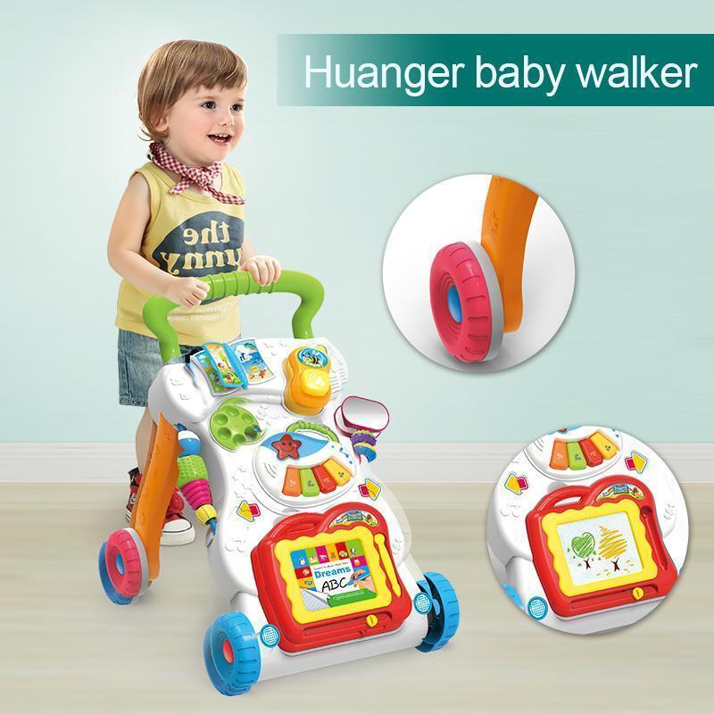 Huanger Baby stroller Sit&Stand Learning Walker Multifunction Outdoor Toy Ride On Car Stokke/Baby Carriage with Wheel Kid Gift--JadeMoghul Inc.