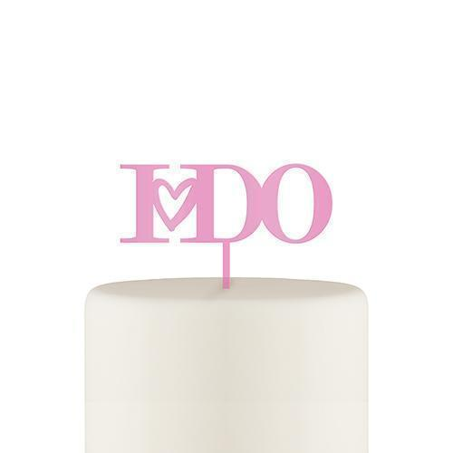 I Do Acrylic Cake Topper - Dark Pink (Pack of 1)-Wedding Cake Toppers-JadeMoghul Inc.