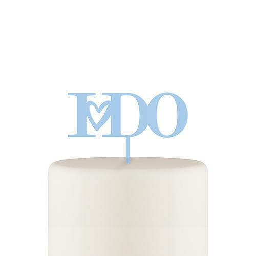 I Do Acrylic Cake Topper - Pastel Blue (Pack of 1)-Wedding Cake Toppers-JadeMoghul Inc.