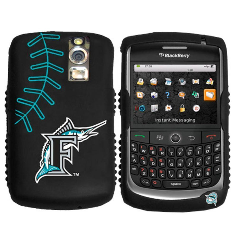 iFanatic MLB Florida Marlins Cashmere Silicone Blackberry Curve Case-ELECTRONIC MEDIA-JadeMoghul Inc.