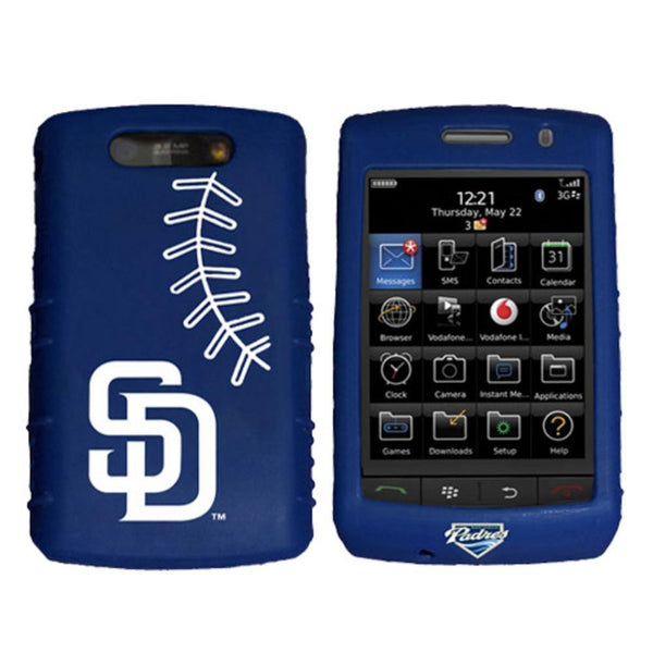 iFanatic MLB San Diego Padres Cashmere Silicone Blackberry Storm Case-ELECTRONIC MEDIA-JadeMoghul Inc.