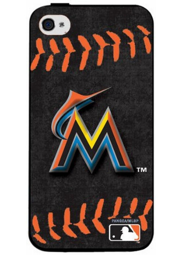 Iphone 44S Hard Cover Case Red Stitch - Miami Marlins-All Other Sports-JadeMoghul Inc.