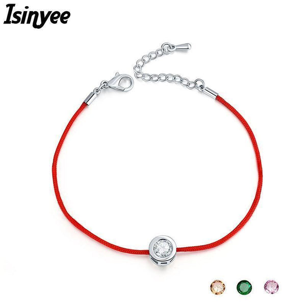 ISINYEE Fashion Red String Rope Bracelet Small Cublic Zirconia CZ Bracelets For Women Handmade Crystal Jewelry Lovers Couples-6 dark blue-JadeMoghul Inc.
