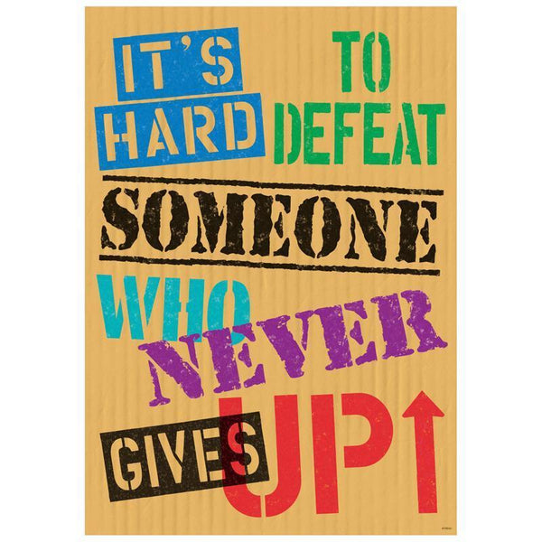 ITS HARD TO DEFEAT SOMEONE POSTER-Learning Materials-JadeMoghul Inc.
