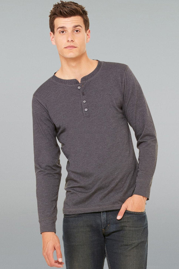 Jersey Henley Top - Men-Men Long Sleeve Tops-S-Black-JadeMoghul Inc.