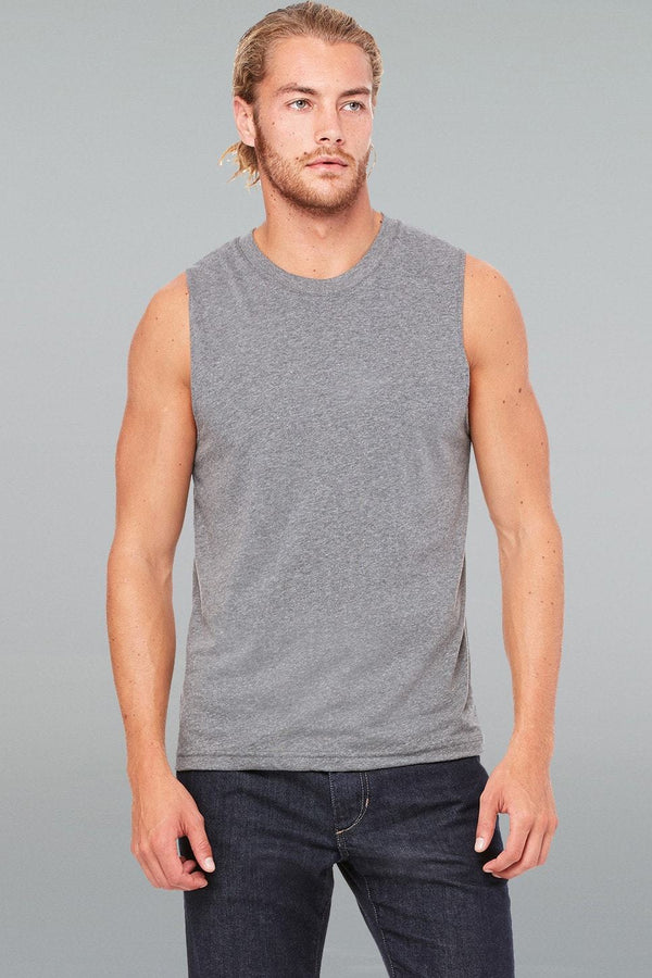 Jersey Muscle Tank - Men-Men Short Sleeve Tops-S-Deep Heather-JadeMoghul Inc.