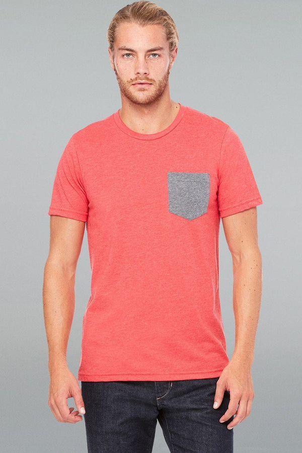 Jersey Pocket Tee - Men-Men Short Sleeve Tops-S-Heather Red/Deep Heather-JadeMoghul Inc.