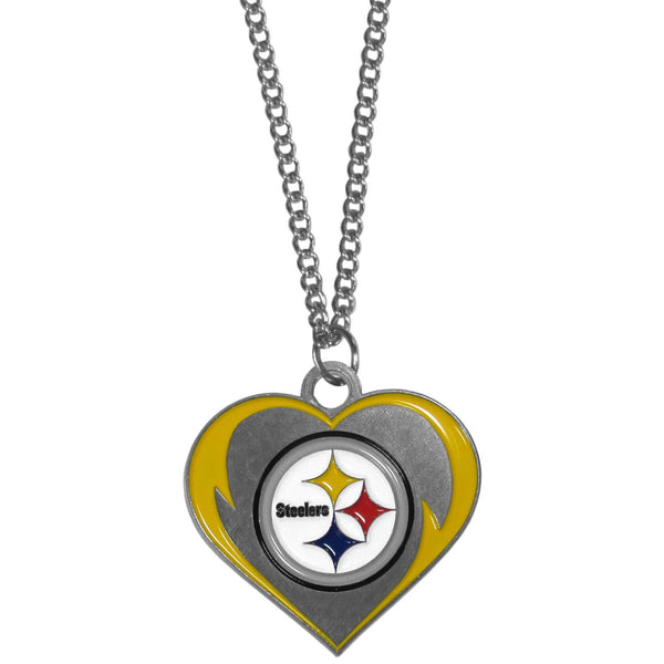 Jewelry & Accessories Pittsburgh Steelers Heart Necklace JM Sports-7